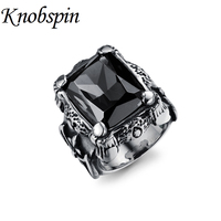 Big CZ Stone Gothic Crown Rings 316L Stainless Steel High Quality Mens Biker Rocker Punk Jewelry