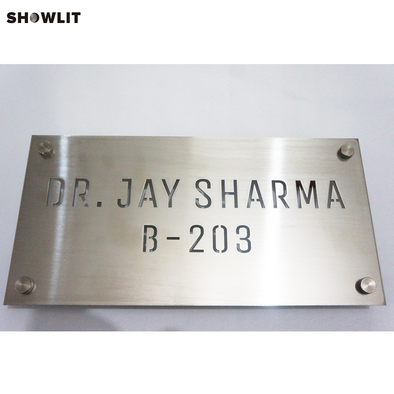 2mm Thickness Custom Made Office Address Plaque2mm Thickness Custom Made Office Address Plaque