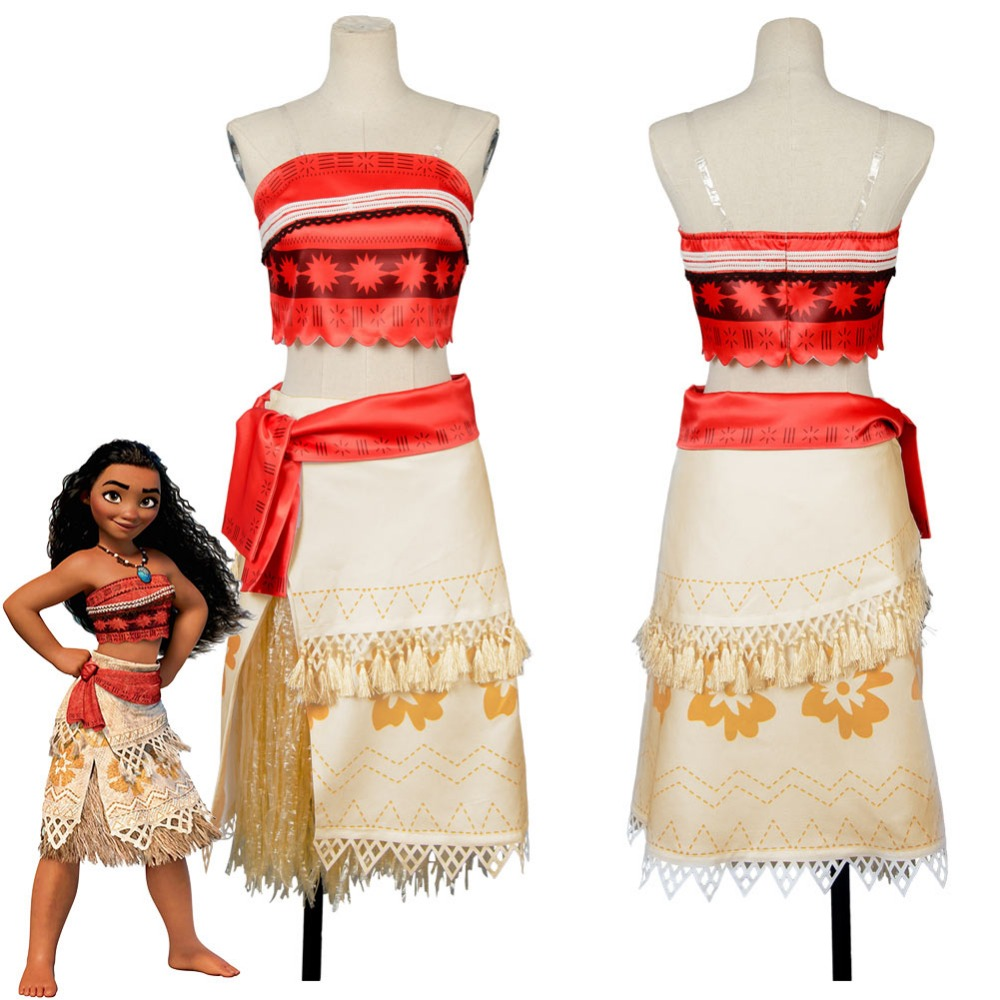 Adult Moana Cosplay Costume Sexy Princess Costume Halloween Suit Movie Moana Costume Women Party Dress Skirt Custom Made