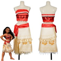 Adult Moana Cosplay Costume Sexy Princess Costume Halloween Suit Movie Moana Costume Women Party Dress Skirt