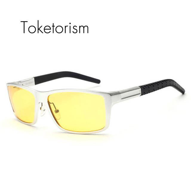 Military Aluminum and magnesium alloys polarized sunglasses mens night driving outdoor sun glasses 4558