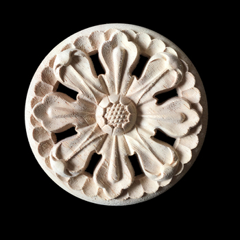 10PCS Carved Decal Woodcarving Corner Applique Furniture Wooden Wall Decor Cabinet Wall Door Furniture Decoration Ornaments 20CM