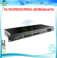 FHL 104C EPON OLT4 PON Port , 4GE WAN Ethernet Port IEEE802.3ah YD/T1475 2006 and CTC2.1 Standard FTTB or FTTH, ONU and ODN