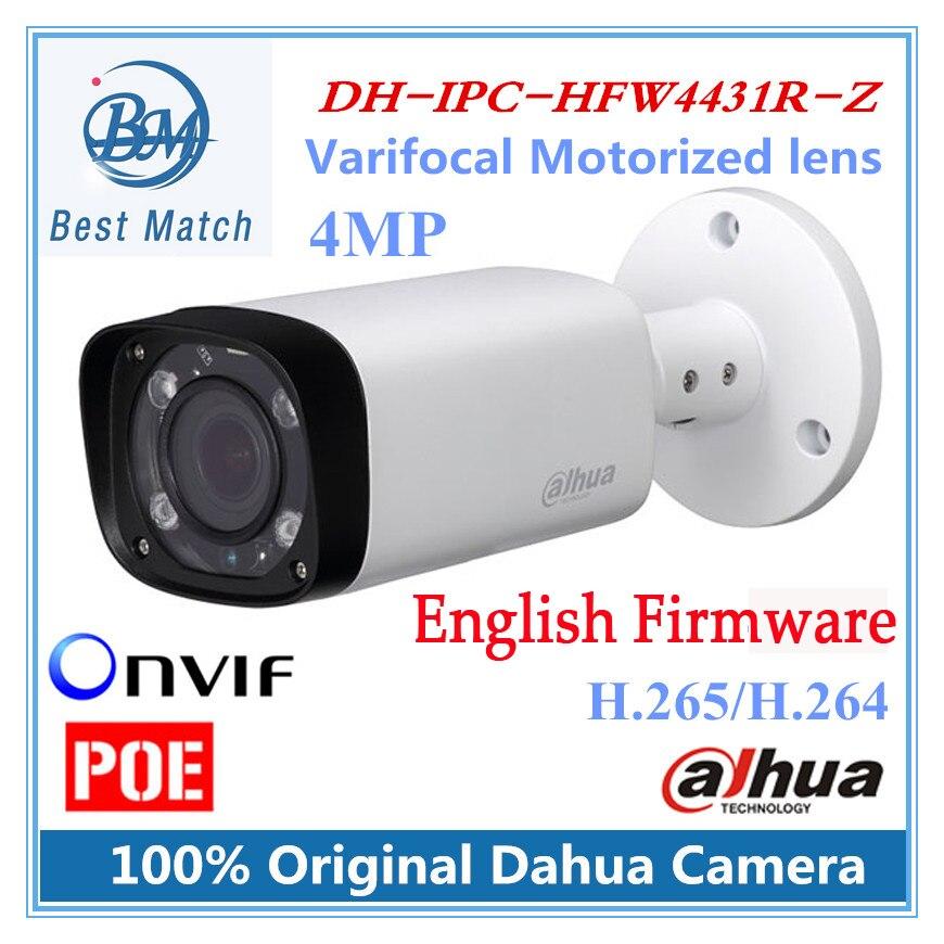imágenes para Nueva original poe dahua ip cámara de $ number mp cámara cctv varifocal lente motorizado dh-ipc-hfw4431r-z englsih firmware ipc-hfw4431r-z