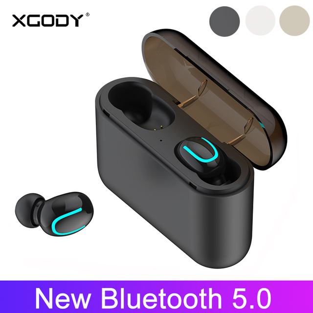 675f4789a49 Xgody TWS Q32 Wireless Bluetooth Earphone V5.0 MIC Stereo Sport Earbud  Headset with Charging Box Power Bank For iphone xiaomi #