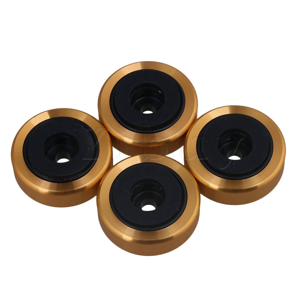 Yibuy 4piece Anti Vibration Cd Player Speaker Isolation Feet Pad 3cm Dia Gold Wide Selection;