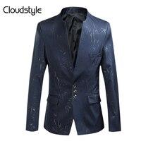Cloudstyle Mężczyzna Blazer Plus Rozmiar 4XL Moda Casual Slim Fit kurtki Mężczyzn Garnitury Dla Partii Babie lato Wysoka Jakość Outwears mężczyźni