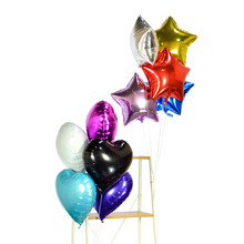 "Globos Foil Balloons 18"" Helium Balloon Star Heart Inflatable Ballon Holidays Birthday Wedding New Year Party Decoration Kids(China)"