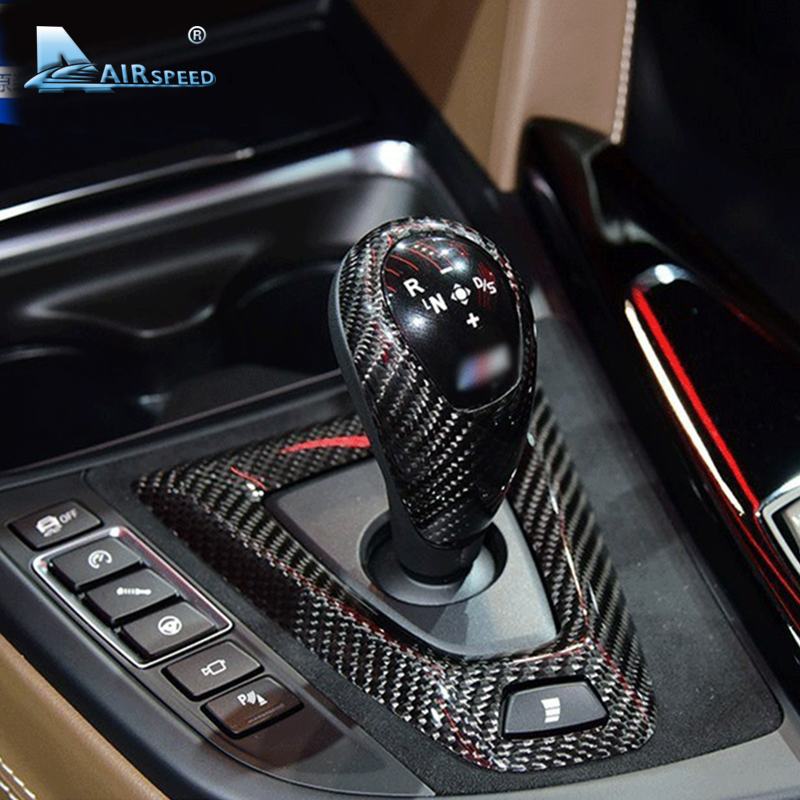 Airspeed Carbon Fiber Gear Knob Cover for BMW F80 M3 F82 M4 F87 E92 E93 E60 M5 F10 M5 M6 F85 X5M F86 X6M Accessories Car Styling