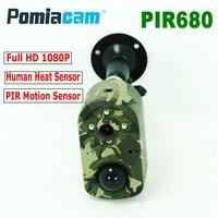 PIR680 Full HD 1080P PIR Motion Sensor Hunting Trail Camera Wildlife Video Recorder Camera with High Sensitive Human Heat Sensor