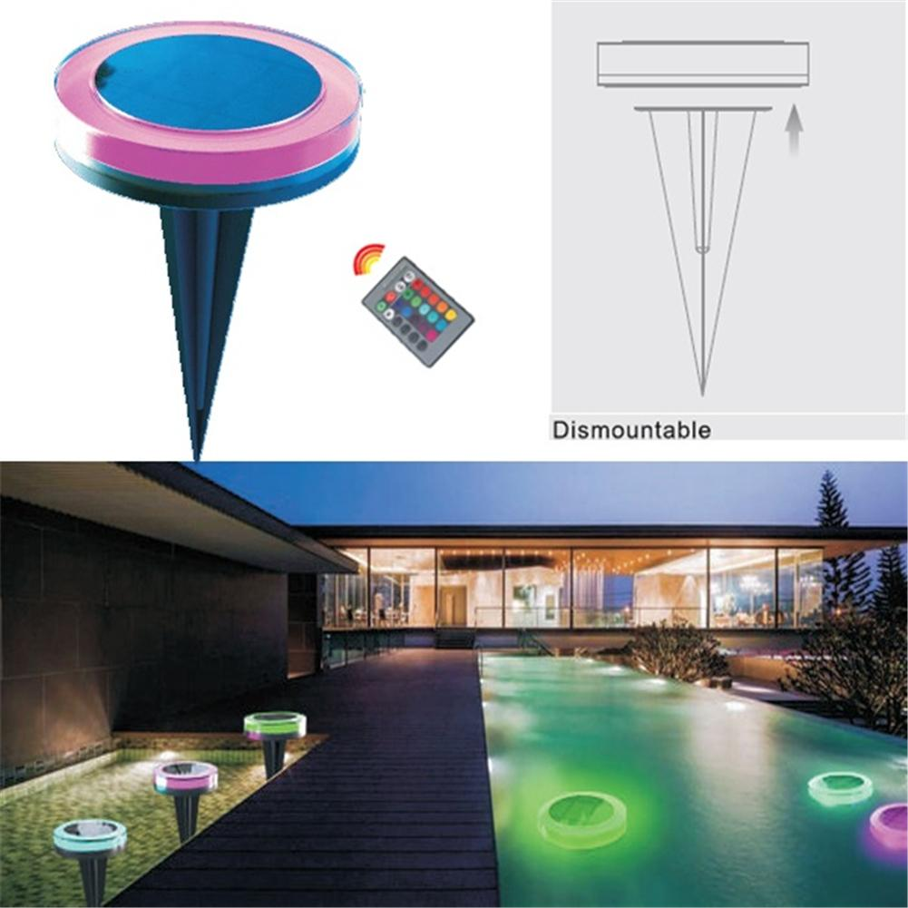 RGB Solar Swimming Pool LED Lights Outdoor Pool Hotel Fountain Light IP68 Waterproof Solar Floating Lights With Remote ControlRGB Solar Swimming Pool LED Lights Outdoor Pool Hotel Fountain Light IP68 Waterproof Solar Floating Lights With Remote Control