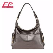 2016 Fashion Ladies Hobo Women Handbag Shoulder Bags Messenger Bags PU Leather champagne Hobos Bolsa Feminina Large Capacity