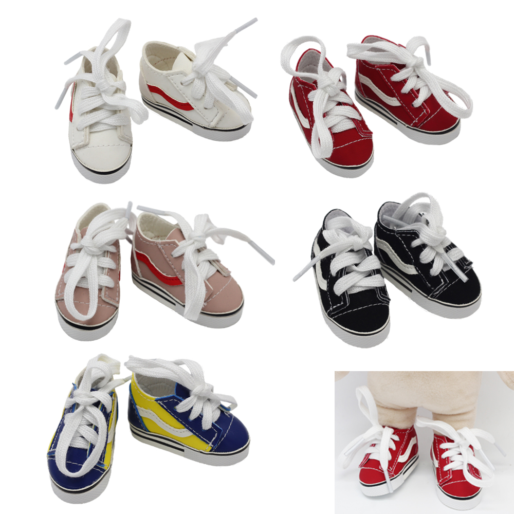 Doll Shoes 5.5*2.8cm Fashion Mini Toy Shoes For EXO Dolls Fit For 14.5Inch Girl Doll BJD Doll Accessories Toys