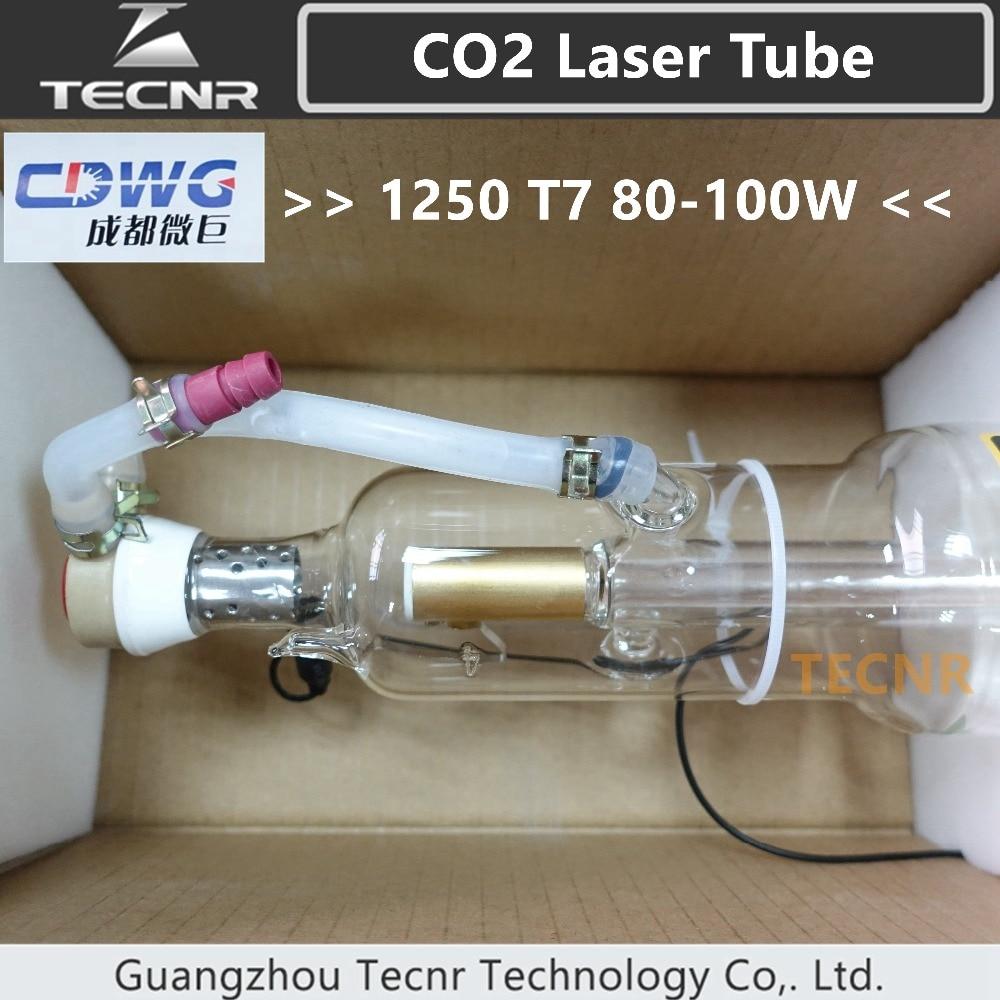 купить CDWG 80W CO2 laser tube 1250MM for CO2 Laser Engraving Cutting Machine 1250T7 по цене 21623.21 рублей