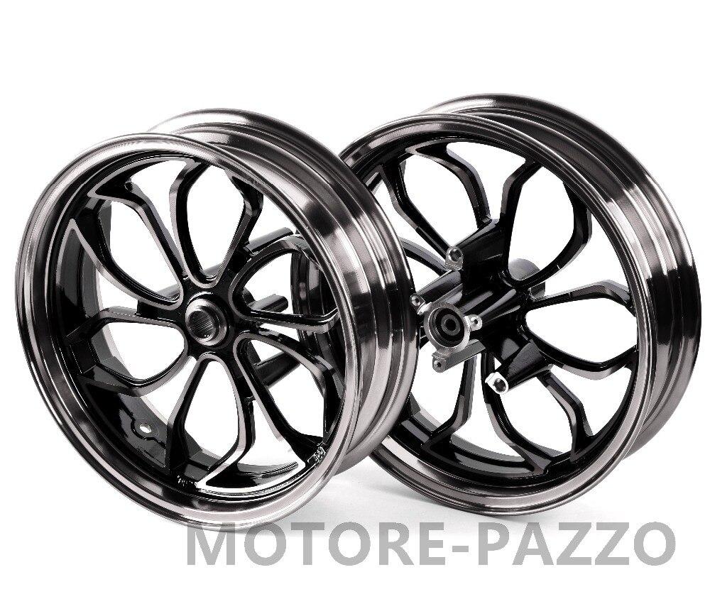 Jantes de roue de moto ensemble de jante de roue avant arrière en alliage d'aluminium noir pour Yamaha NMAX155 NMAX 155 NMAX125