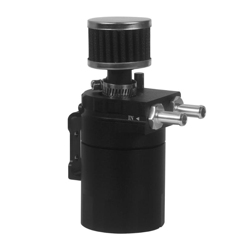 Universal T-6061 Light Weight Aluminum Reservoir Oil Catch Can Tank Kit with Filter and Dip Stick Auto Car Accessories все цены