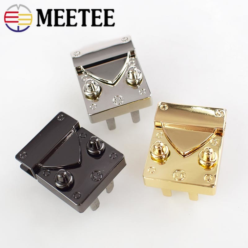 Novel Designs Delightful Colors And Exquisite Workmanship Audacious 2pcs Handbag Bag Locks Buckle Fashion Twist Turn Lock Snaps For Diy Replacement Bags Purse Clasp Closure Accessories Ky650 Famous For Selected Materials
