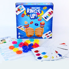 kids floor game RINGS UP Table Tour Ring Set Card Game board color logic for Parents and Children finger hand party