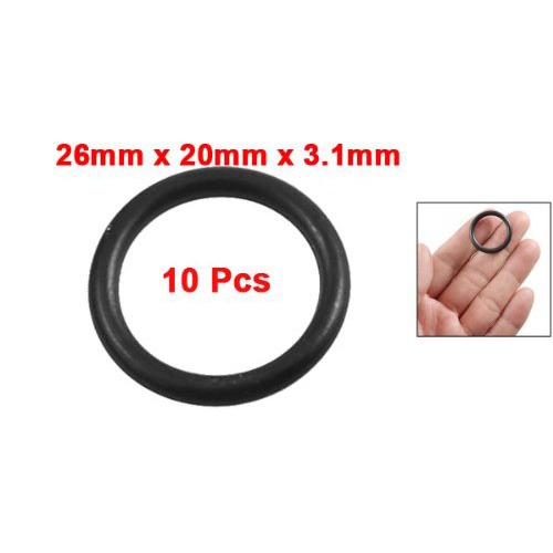 10 Pcs 20mm x 2.5mm Mechanical Rubber O Ring Oil Seal Gaskets