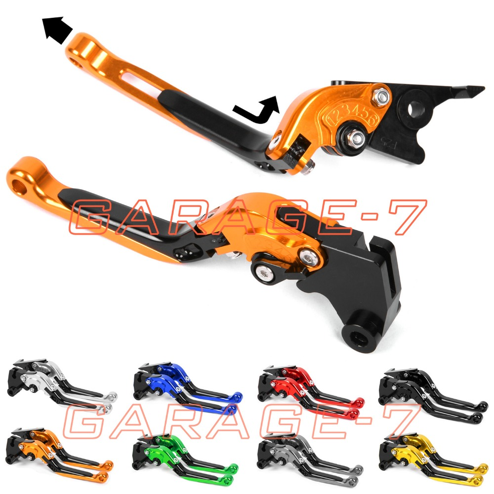 ФОТО For KTM 950 SM/SUPERMOTO 2007 Foldable Extendable Brake Clutch Levers Aluminum Alloy CNC Folding&Extending High Quality Hot Sell