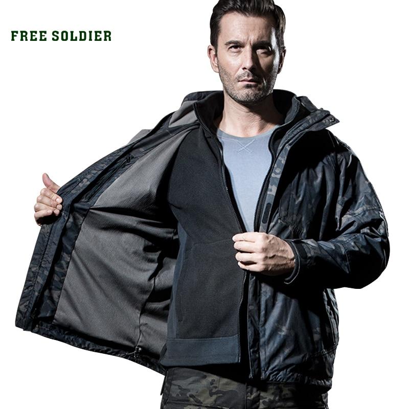 Waterproof Hoodie Free-Soldier Windbreaker Military-Jacket Outdoor Tactical Men