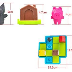 Image 4 - ילד חכם הסתר & Seek לוח משחקי שלוש חזרזירי 48 אתגר עם פתרון משחקי IQ הדרכה צעצועים לילדים oyuncak