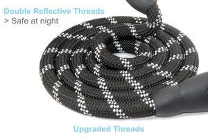 Image 2 - Mysbiker 편안한 패딩 핸들이있는 강력한 개 가죽 끈 및 중형 및 대형견 용 반사 형 개 가죽 끈