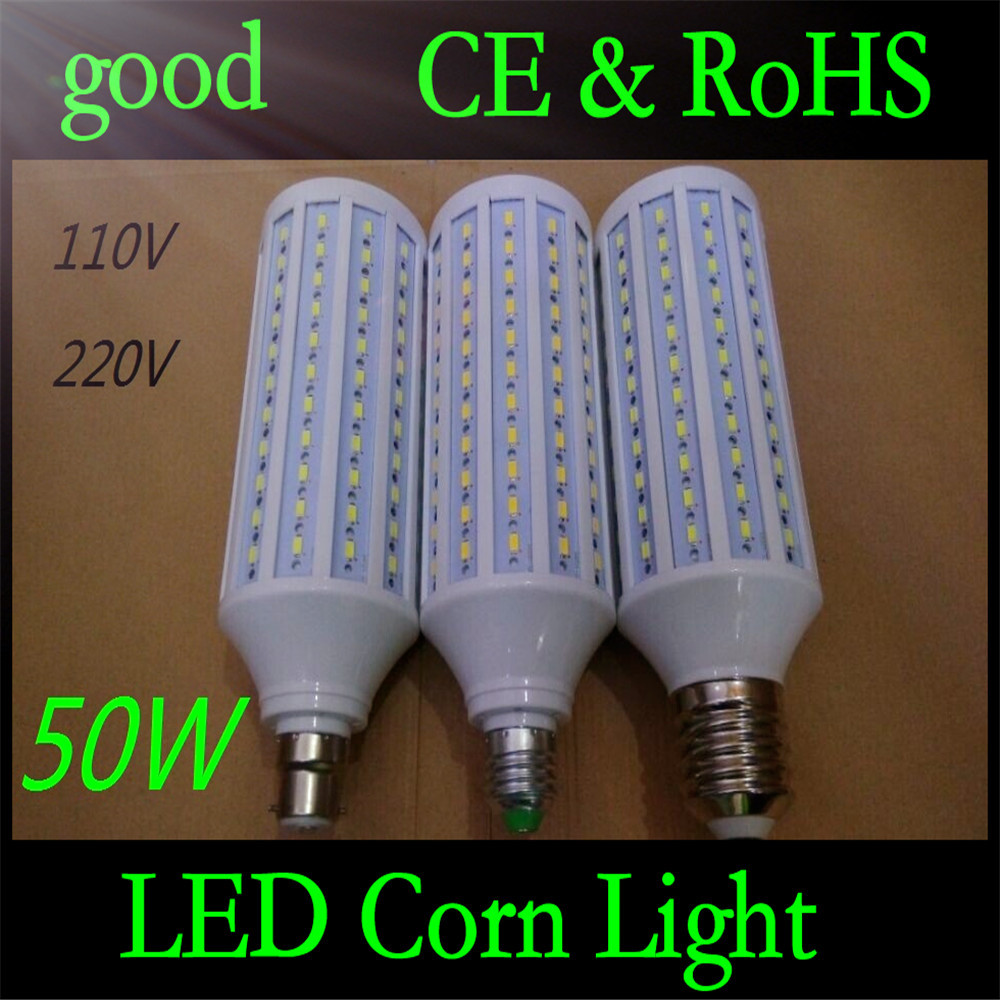 5pcs E40 E27 B22 50W 5730 SMD 165 LED Chip Corn Light AC110V/220V Warm/White Bulb Maize Lamp Home Indoor Outdoor street lighting lexing lx r7s 2 5w 410lm 7000k 12 5730 smd white light project lamp beige silver ac 85 265v