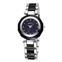 WEIQIN Nueva Señoras de La Manera Elegante Reloj Pulsera Reloj de Cuarzo de Acero de Lujo de Oro Rhinestone Del Encanto de Las Mujeres Vestido Reloj Reloj