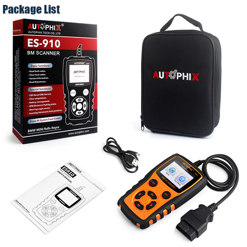 US $100 15 33% OFF|Autophix ES910 OBDII Automotive Scanner CBS ABS Airbag  EPB Transmission Repair Tool OBD2 Diagnostic Tool Lifetime Free Update -in
