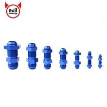 Злой energy-AN3-AN16 анозированный алюминиевый прямой мужской резьбовой термоперемычка расклешенные фитинги с разъемы с гайками конец шланга синий