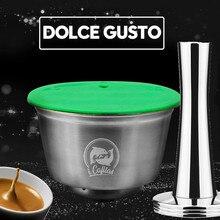 Из нержавеющей стали, металлические многоразовые Dolce Gusto капсула Совместимость с Dolce Gusto Кофе машины для многоразового использования Dolci Capsule