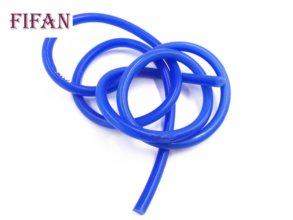 FIFAN Universal 5M 8mm Silicone Vacuum Tube Hose Silicon Tubing Blue Black Red Yellow Car Accessories image