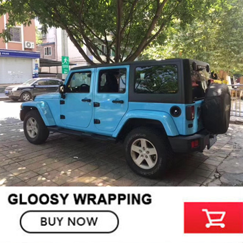 sky blue vinyl car wrap SUPER Gloss Vinyl Wrap with air release FOR ford focus 2 for audi change color film комплект адаптеров ford focus 1 audi a4 до 2000