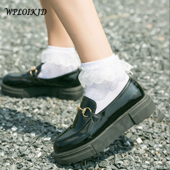 [WPLOIKJD]Japanese Harajuku Princess Cute Lace Silk Socks Kawaii Divertidos Women Girls Calcetines Mujer Sokken Femme - discount item  15% OFF Women's Socks & Hosiery