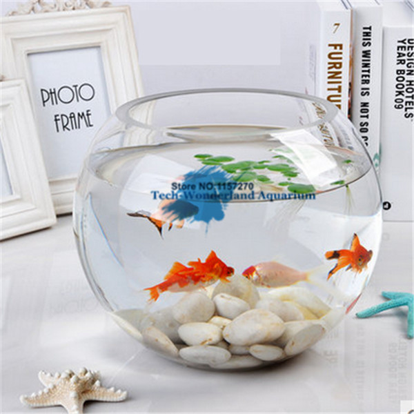 15*12.5CM Glass <font><b>Aquarium</b></font> Fishbowl For Fish Flower Plants <font><b>Aquarium</b></font> Home Decoration Ball Fish Tank <font><b>Round</b></font> image