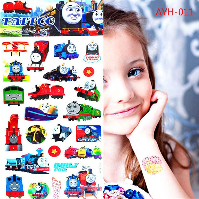 17 1pc Train Thomas And Friends Tattoo Stickers 21*10cm Kids Toy Cartoon Waterproof Anime Temporary Body Art Children Comics 9