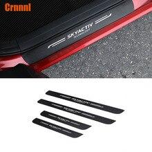 Искусственная кожа углеродного волокна автомобиль-Стайлинг порога Накладка автомобильные аксессуары для Mazda CX5 CX-5 2017 2018