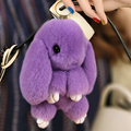 Hot Sale Top Quality Super Cute Lovely Rabbit Big Ear Fur Phone Keychain Pendant Handbag Accessories Car Decor Key Ring S4919