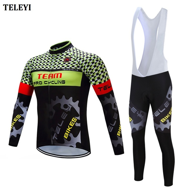 Cycling jersey men 2018 pro team Long sleeve cycling clothing China bike  clothes kit bicycle jersey set triathlon suit skinsuit e7d4bcbc1