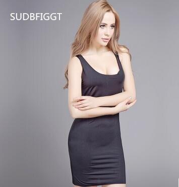 HOT 2017 Female Seamless Nightwear Women's Plus Size Long Underdress Sleeveless Ladies Full Slips 7 Colors
