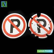 30pcs Dia.100mm Free shipping fragile paper stickers no parking sign for cars Destructible labels with logo of NO PARKING labels