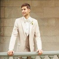בז 'חליפות חתונה חליפות גברים האופנה גברים תפורים באיכות גבוהה חתן tuxedos חליפות נשף מסיבת טוקסידו (מעיל + מכנסיים אפוד +)