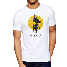 New Arrive Japan Anime Dragon Ball T-Shirt Super Saiyan Son Goku Tees Tops Men Clothes Plus size T-shirt