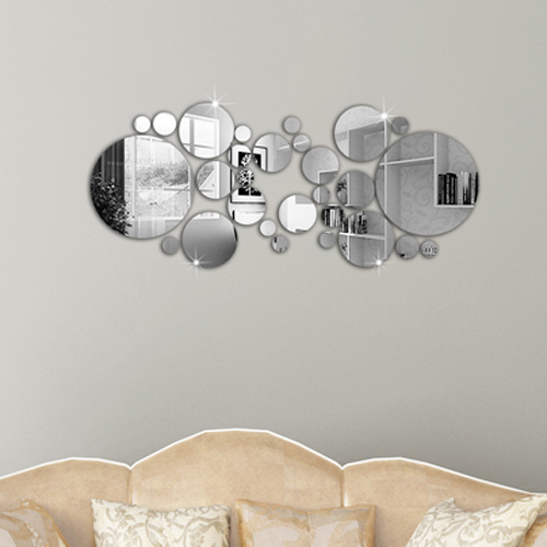 boutique 28pcs new design mirror wall stickerframehome decorationsilverchina