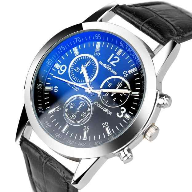 Splendid Masculino Relogio זכר גברים שעונים אופנה יוקרה התנין פו Mens אנלוגי שעונים שעוני גברים רצועת עור שעון שעות