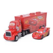 Дисней Pixar тачки 3 2 шт Молния Маккуин Мак дядюшка контейнеровоз 1:55 литье под давлением металлический сплав модель подарок на день рождения игрушка для детей