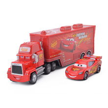 Disney Pixar Cars 3 2pcs Lightning McQueen Mack Uncle Container Truck 1:55 Diecast Metal Alloy Modle Birthday Gift Toy Children