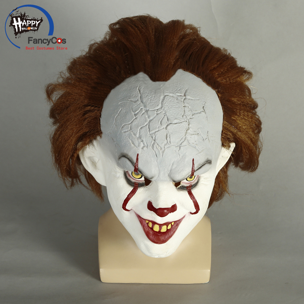 Stephen King's It Mask Pennywise Mask Cosplay Helmet Halloween Latex Mask Props Gifts Mask Party High Quality Costume
