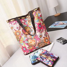 New Womens Bag Canvas Shoulder Multi-Function Big Europe And America large-Capacity Shopping Folding